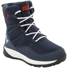 Jack Wolfskin Polar Bear Texapore High Bottes Enfant, dark blue/off-white